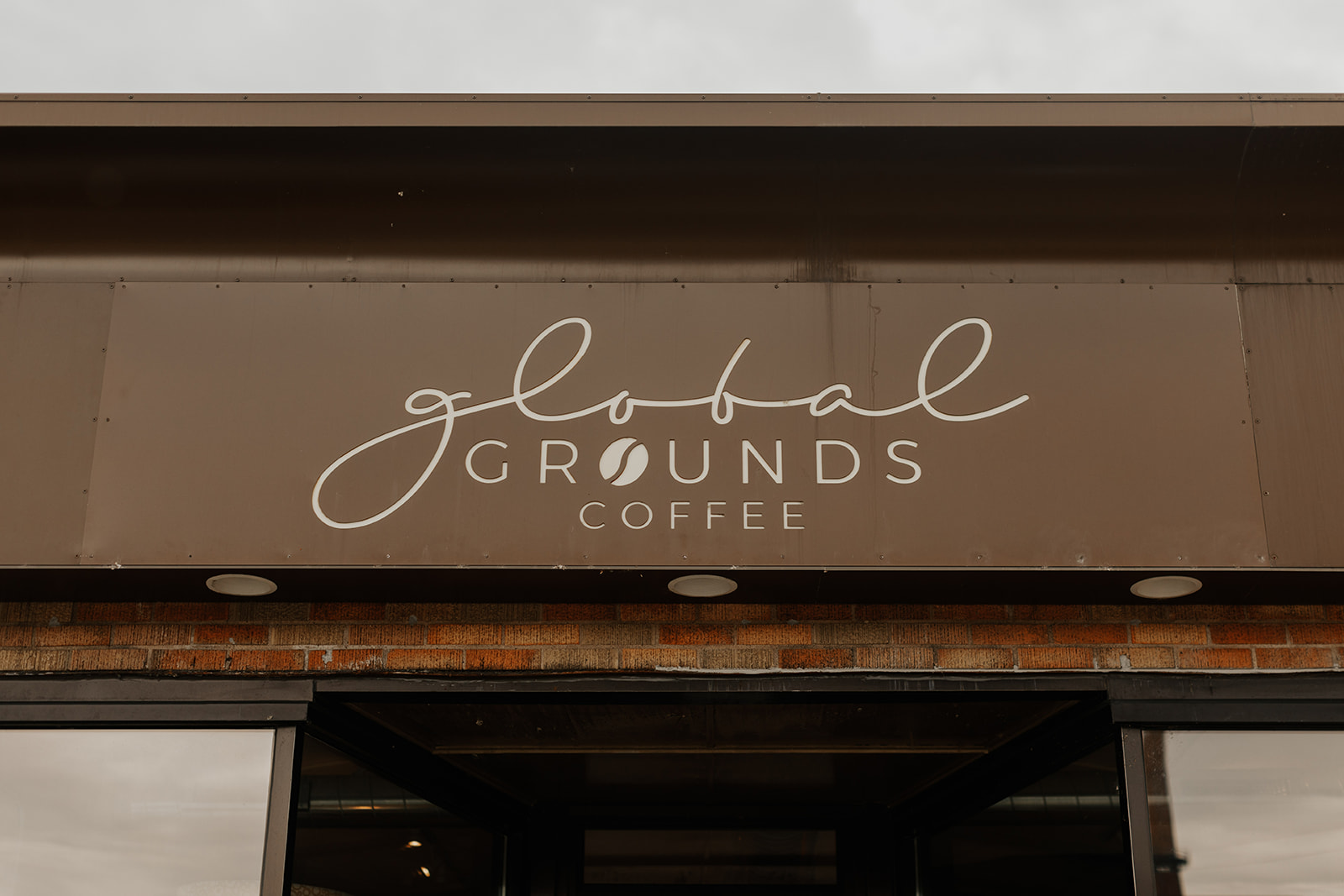 Global Grounds Coffee Shop Sign