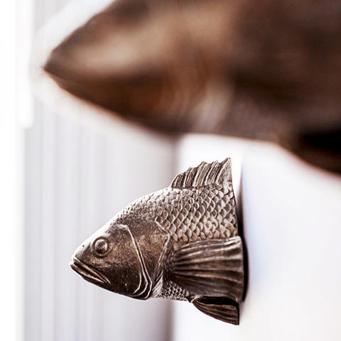 decorative fish on wall